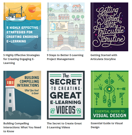 Articulate Rapid E-Learning Blog - how to become an elearning pro by reading these free ebooks