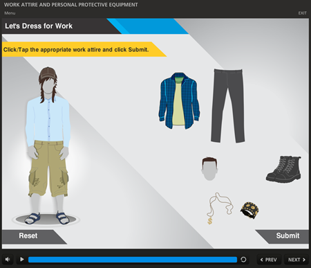 Articulate Rapid E-learning Blog - e-learning examples safety attire