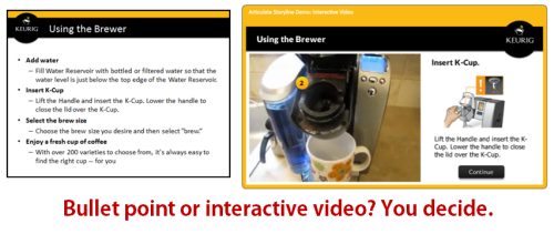 Articulate Rapid E-Learning Blog - convert bullet points to interactive videos