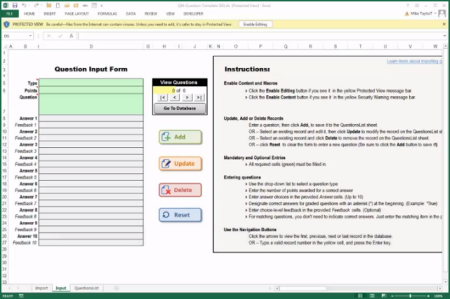 Articulate Rapid E-Learning Blog - Excel quiz form template