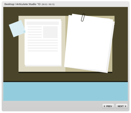 Articulate Rapid E-Learning Blog - example of a flat UI interactive elearning course
