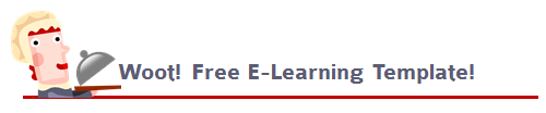 Articulate Rapid E-Learning Blog - free elearning template that is flat UI desktop