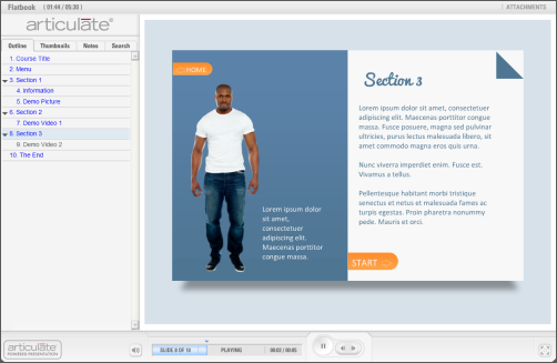 Articulate Rapid E-Learning Blog - example of the free PowerPoint elearning template
