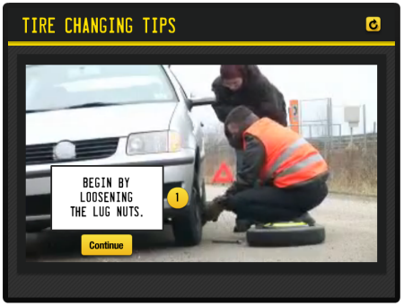 Articulate Rapid E-Learning Blog - interactive elearning demo tire change