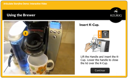 Articulate Rapid E-Learning Blog - elearning example how to use Keurig Brewer