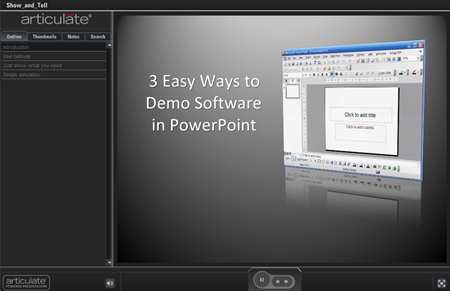Articulate Rapid E-learning Blog - 3 easy ways to demonstrate software in PowerPoint