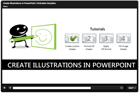 Articulate Rapid E-learning Blog - How to use PowerPoint to create your own custom illustrations