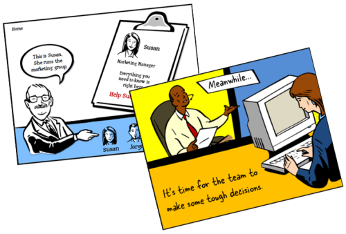 The Rapid E-Learning Blog - build your own comic style elearning using PowerPoint clip art