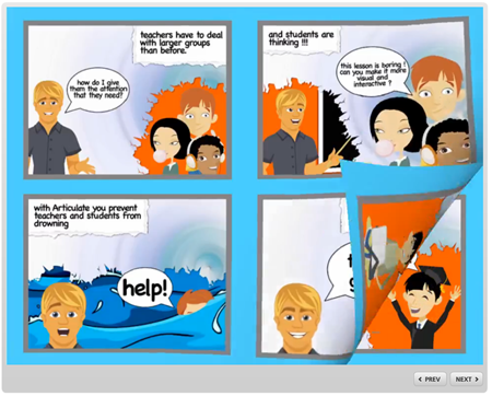 Articulate Rapid E-Learning Blog - elearning example of comic book design to build better courses