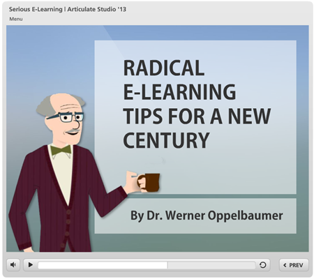 Articulate Rapid E-Learning Blog - dr werner oppelbaumer explains the serious elearning manifesto in this presentation