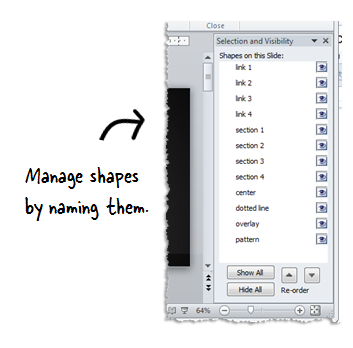 The Rapid E-Learning Blog - manage shapes in PowerPoint with selection pane