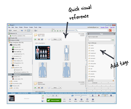 The Rapid E-Learning Blog - quick visual reference of elearning graphics in Picasa