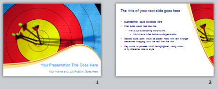 The Rapid E-Learning Blog - example of free PowerPoint bulls eye target template