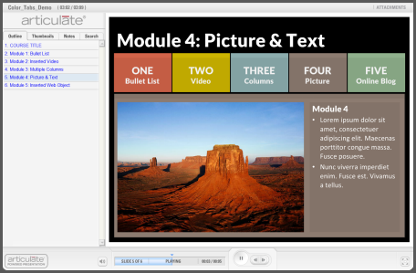 Articulate Rapid E-Learning Blog - example of free PowerPoint template for online training