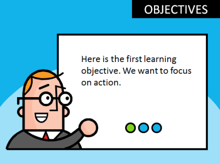 Articulate Rapid E-Learning Blog - free PowerPoint template based on a clip art image
