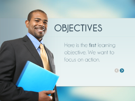 Articulate Rapid E-Learning Blog - example of a free PowerPoint elearning template