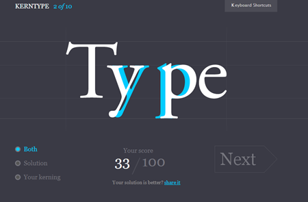 Articulate Rapid E-Learning Blog - learn about fonts using kerntype game