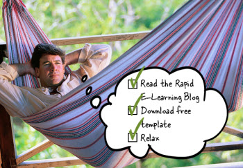 Articulate Rapid E-Learning Blog - relax and enjoy the day with this free PowerPoint template