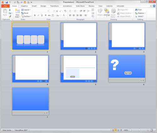 Articulate Rapid E-Learning Blog - layouts of the free PowerPoint elearning template