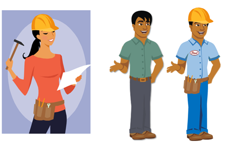 Articulate Rapid E-Learning Blog - how to create characters customizing Articulate characters and using clip art