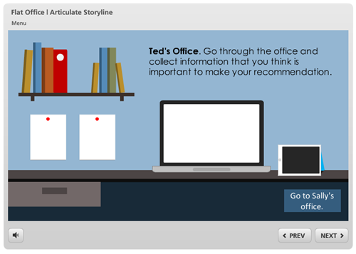 Articulate Rapid E-Learning Blog - example of the free flat UI learning interaction template