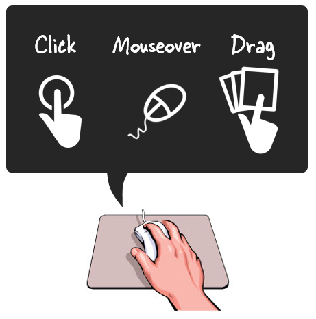 Articulate Rapid E-Learning Blog - three ways to touch the screen when building interactive elearning courses.