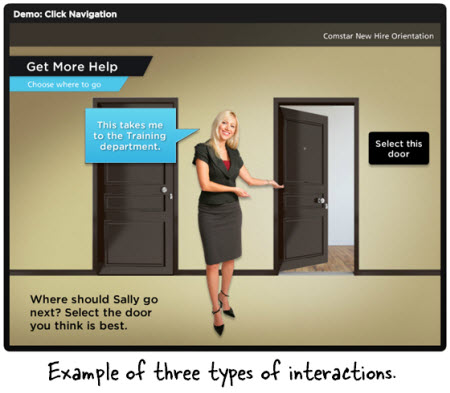 Articulate Rapid E-Learning Blog - three examples of interactive elearning