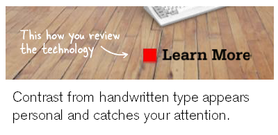 Articulate Rapid E-Learning Blog - handwritten fonts add contrast