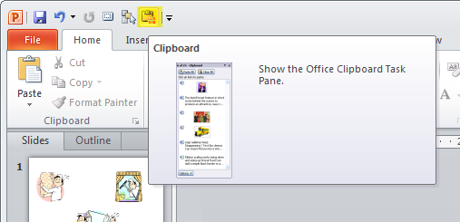 Articulate Rapid E-Learning Blog - PowerPoint quick access to the clipboard