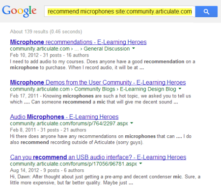 Articulate Rapid E-Learning Blog - google search results for domain