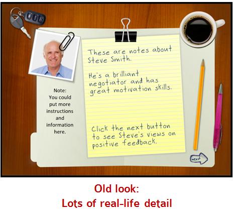 Articulate Rapid E-Learning Blog - overhead desktop template