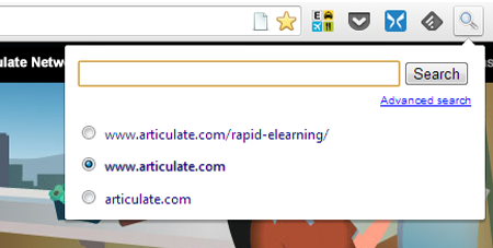 Articulate Rapid E-Learning Blog - use this app to search elearning sites and popular blog posts